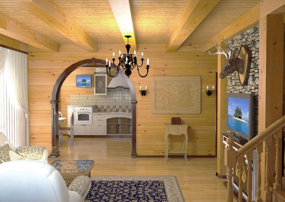 Внутренняя отделка деревянного дома. Создаем особый стиль.
