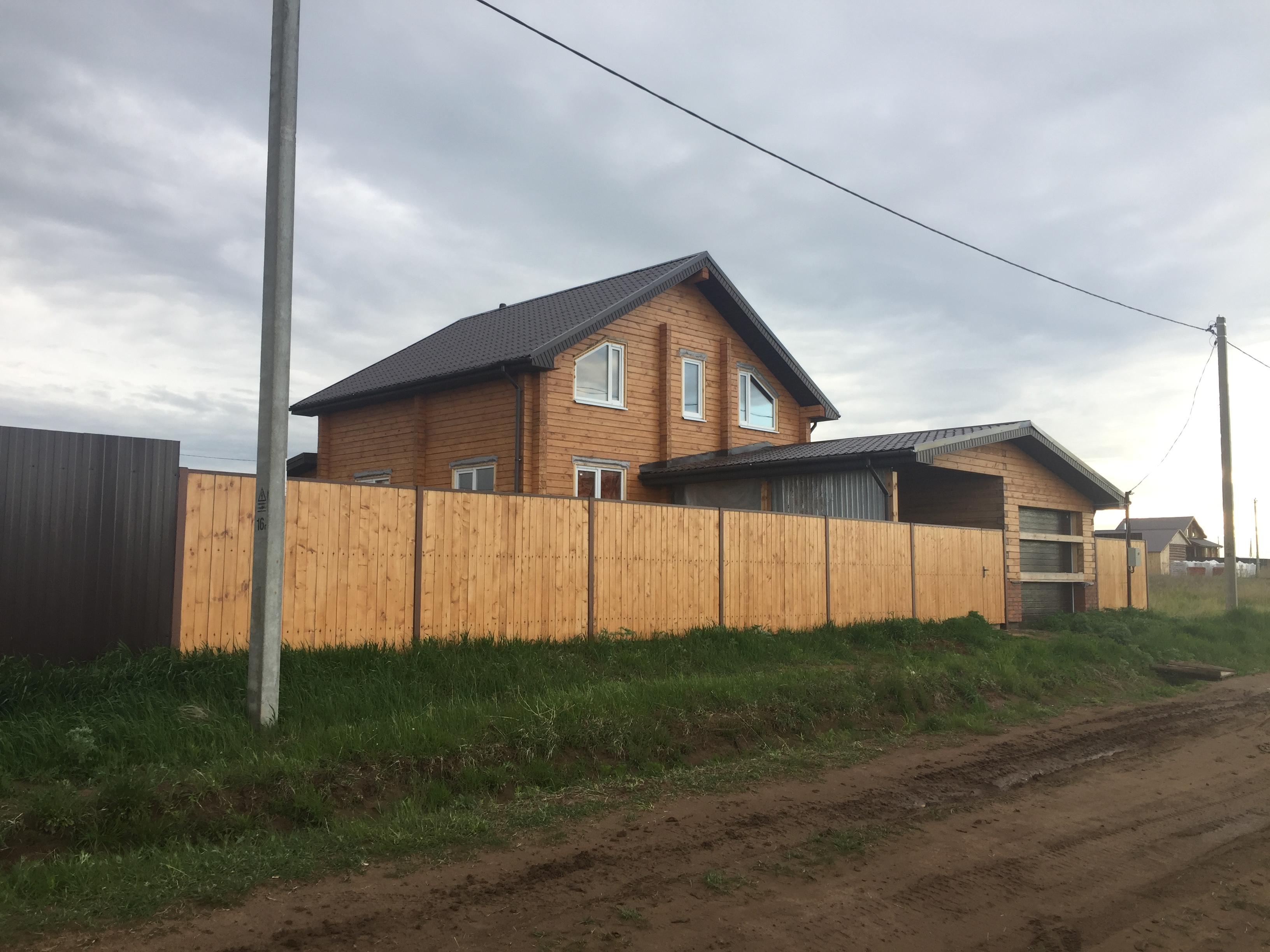 Строительство деревянного дома. с. Завьялово
