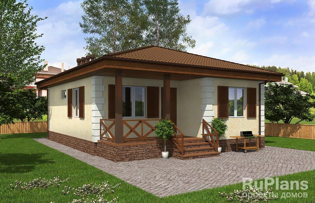 Проект одноэтажного жилого дома с террасой ЛСП5094