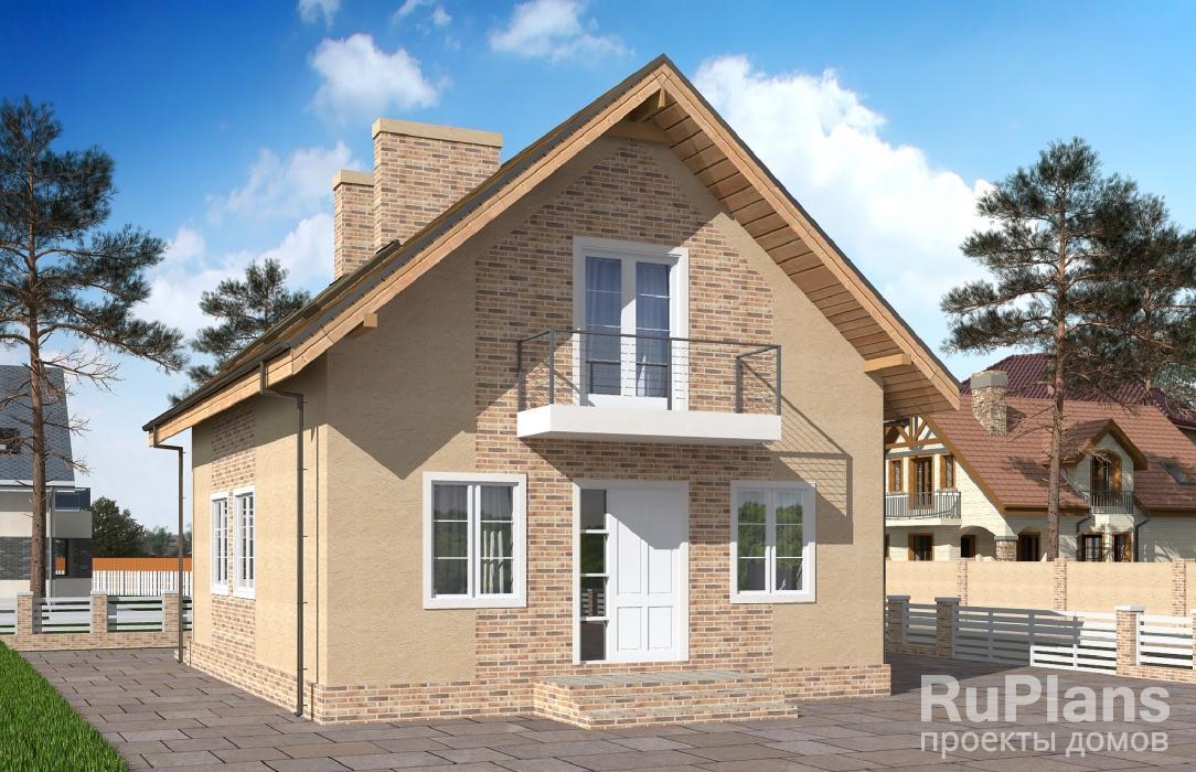 Дом с мансардой, террасой и балконами ЛСП5090