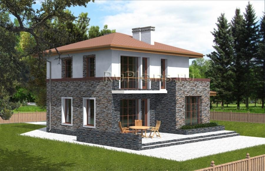 Проект небольшого двухэтажного коттеджа ЛСП3835