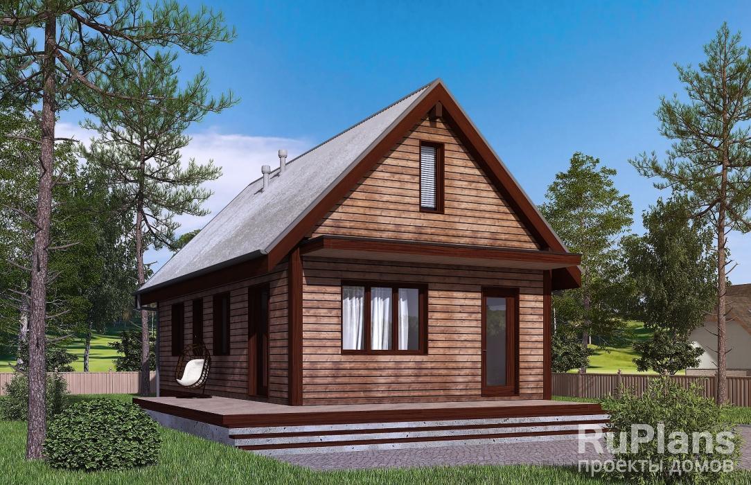 Одноэтажный дом с террасой ЛСП5103