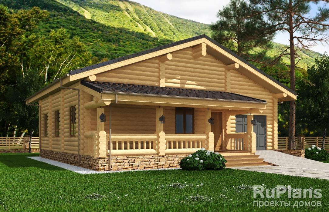 Проект жилого дома с террасами и гаражом ЛСП5131