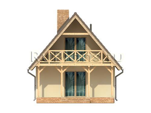 Проект одноэтажного дома с мансардой ЛСП410