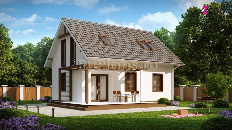 Проект небольшого и простого в строительстве дома ЛСП1273