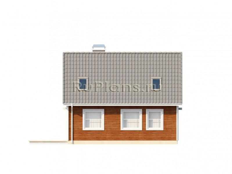 Проект дома, простого в строительстве и для небольшого участка ЛСП1131