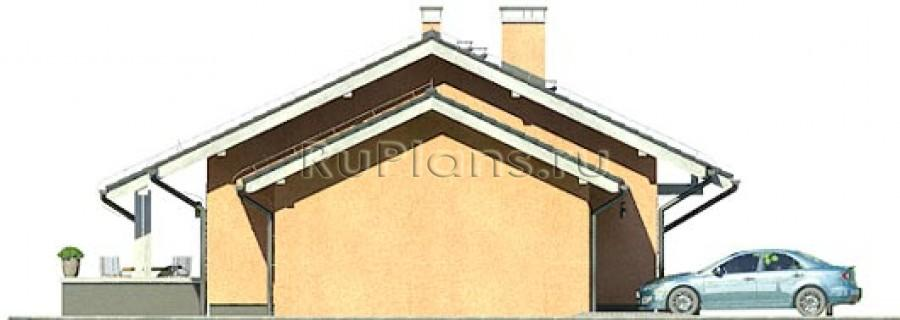 Проект одноэтажного дома с тремя комнатами и гостиной ЛСП3198