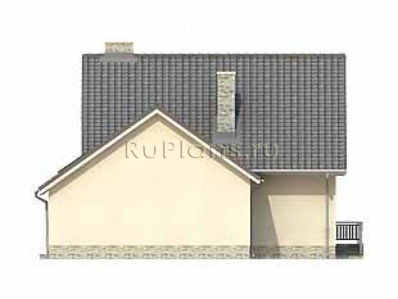 Небольшой дом с гаражом и мансардой ЛСП1550