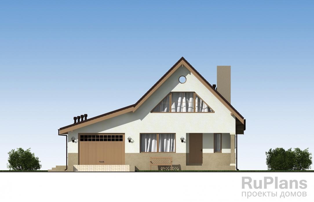 Проект одноэтажного жилого дома с подвалом, террасой и мансардой ЛСП5227