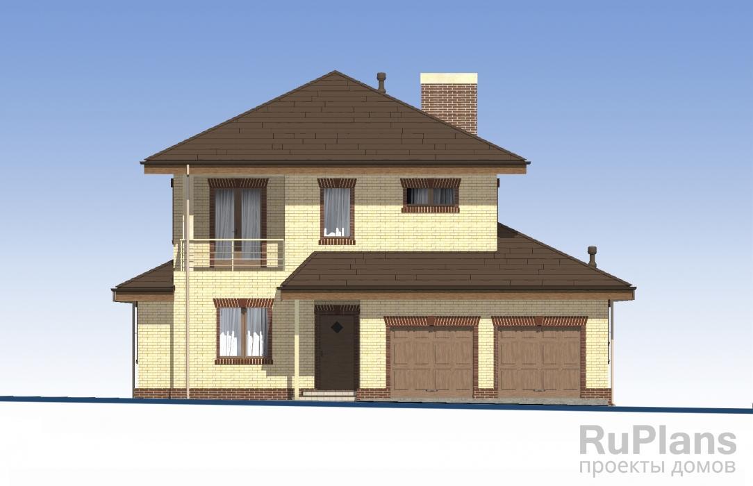 Двухэтажный жилой дом с гаражом и террасой ЛСП5157