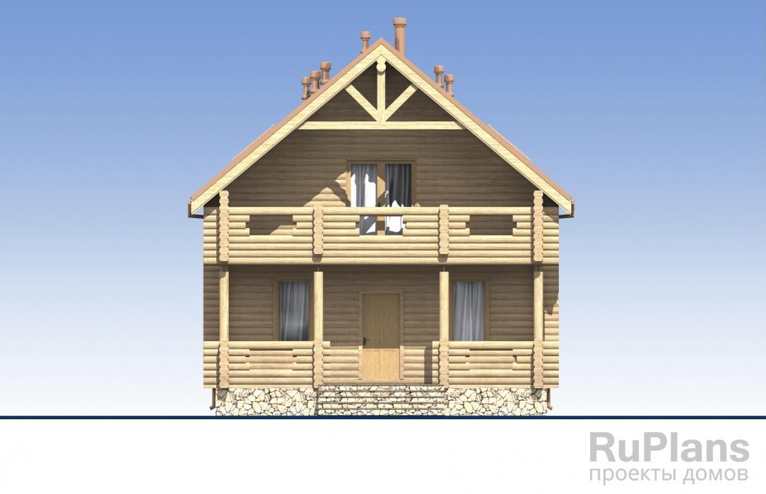 Одноэтажный дом с мансардой, террасами и балконами ЛСП5432