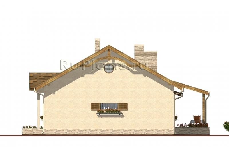 Проект одноэтажного дома с чердаком ЛСП4965