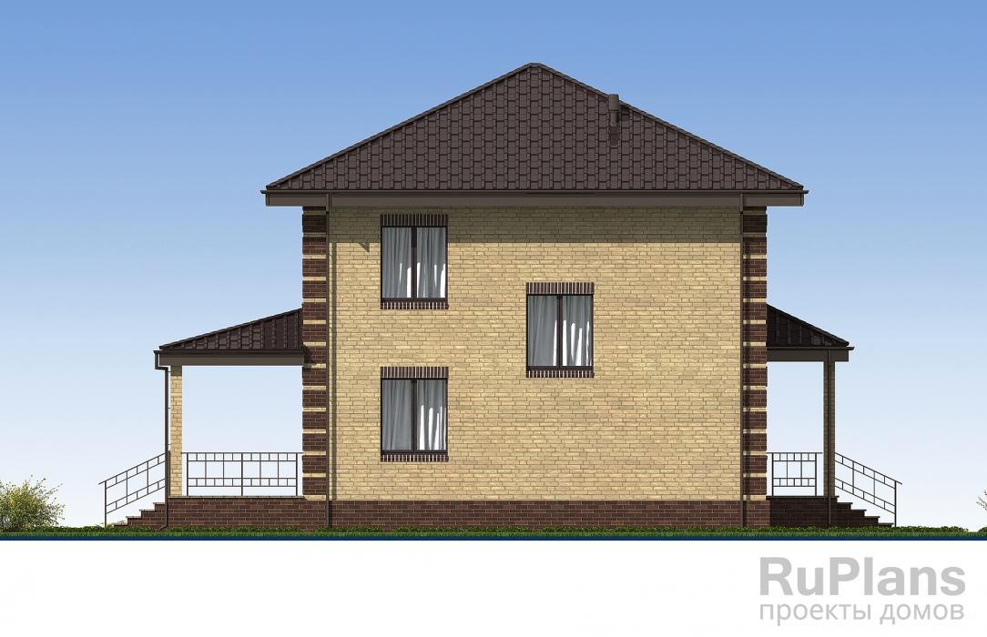 Проект двухэтажного дома с террасами ЛСП5316