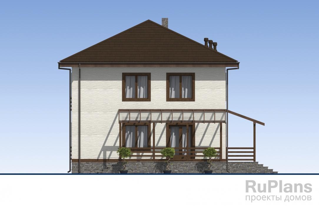 Двухэтажный жилой дом с террасами ЛСП5108