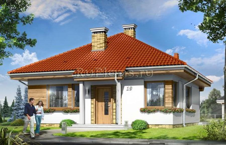 Проект одноэтажного дома с чердаком ЛСП3704