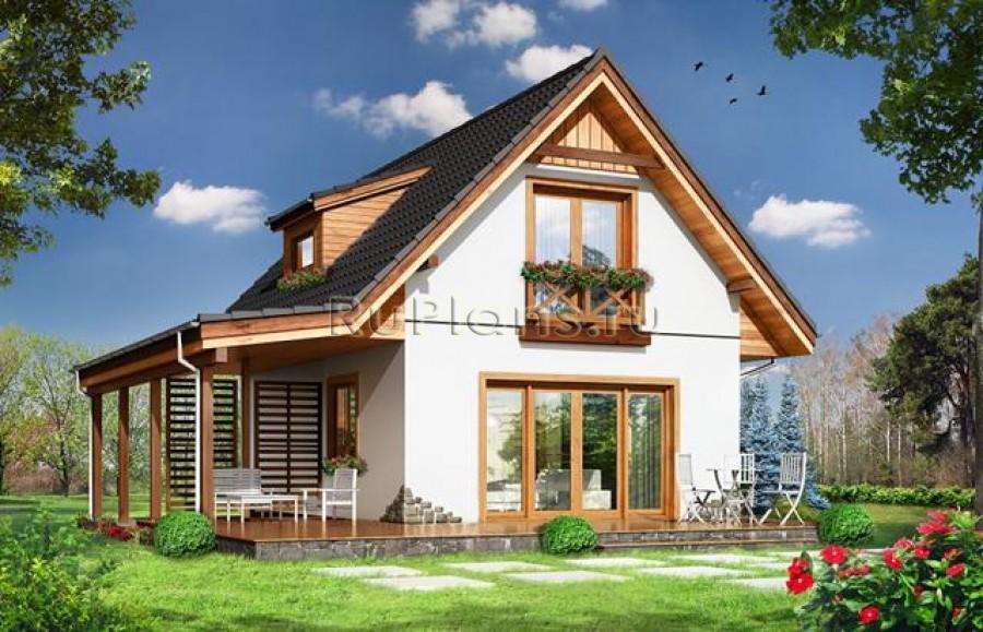 Проект одноэтажного дома с мансардой ЛСП3765