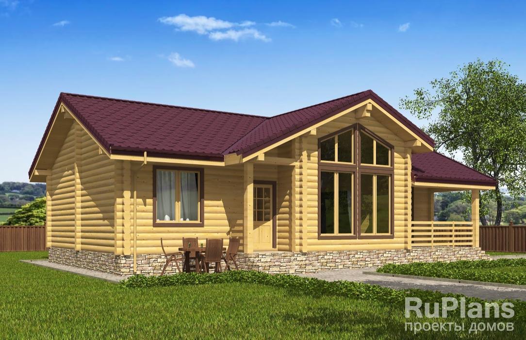Одноэтажный дом с террасой ЛСП5334