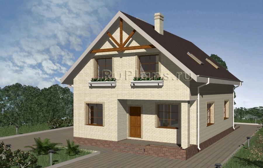 Проект уютного дома с мансардой и гаражом ЛСП3346