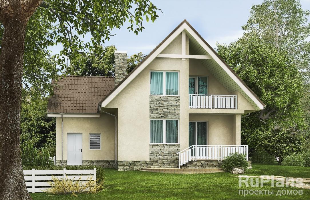 Одноэтажный дом с мансардой, гаражом и террасой ЛСП5263