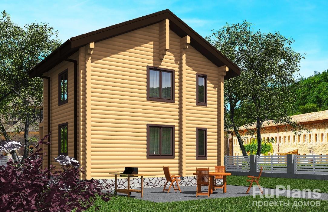 Проект индивидуального двухэтажного жилого дома с балконом ЛСП5496
