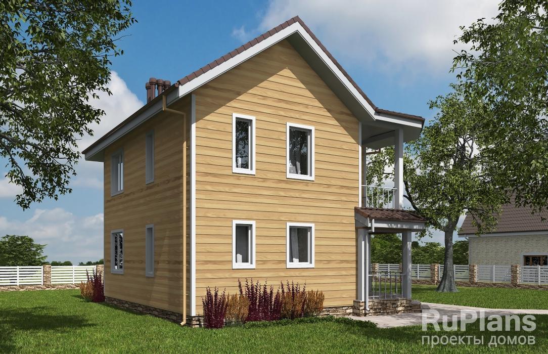 Двухэтажный дом с балконом ЛСП5401