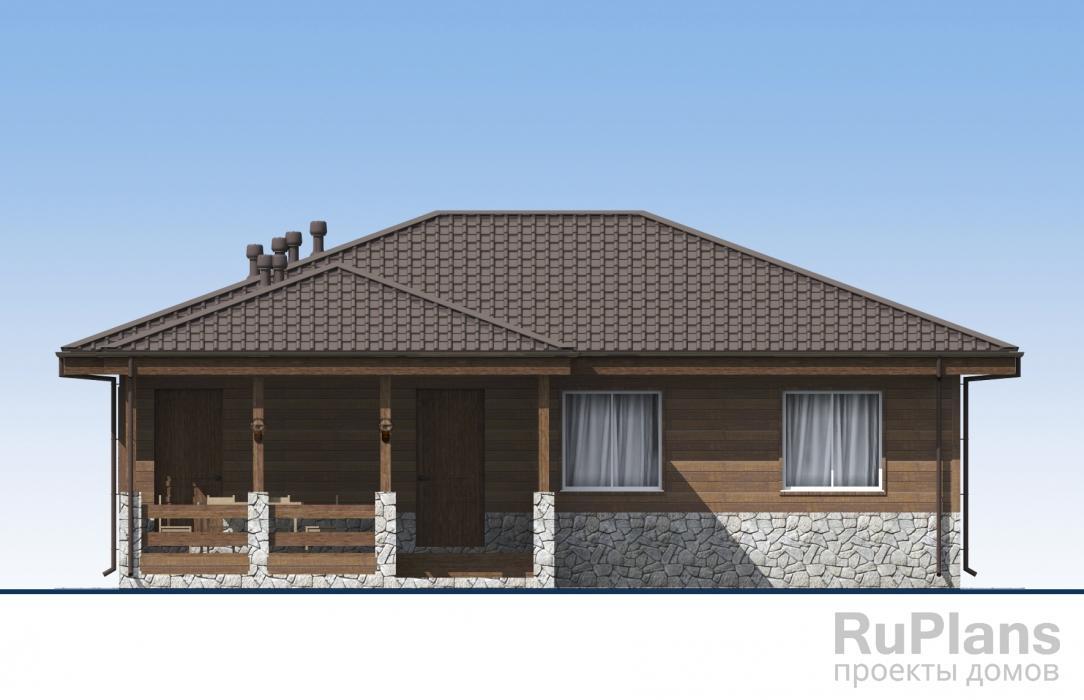 Одноэтажный дом с подвалом и террасой ЛСП5168