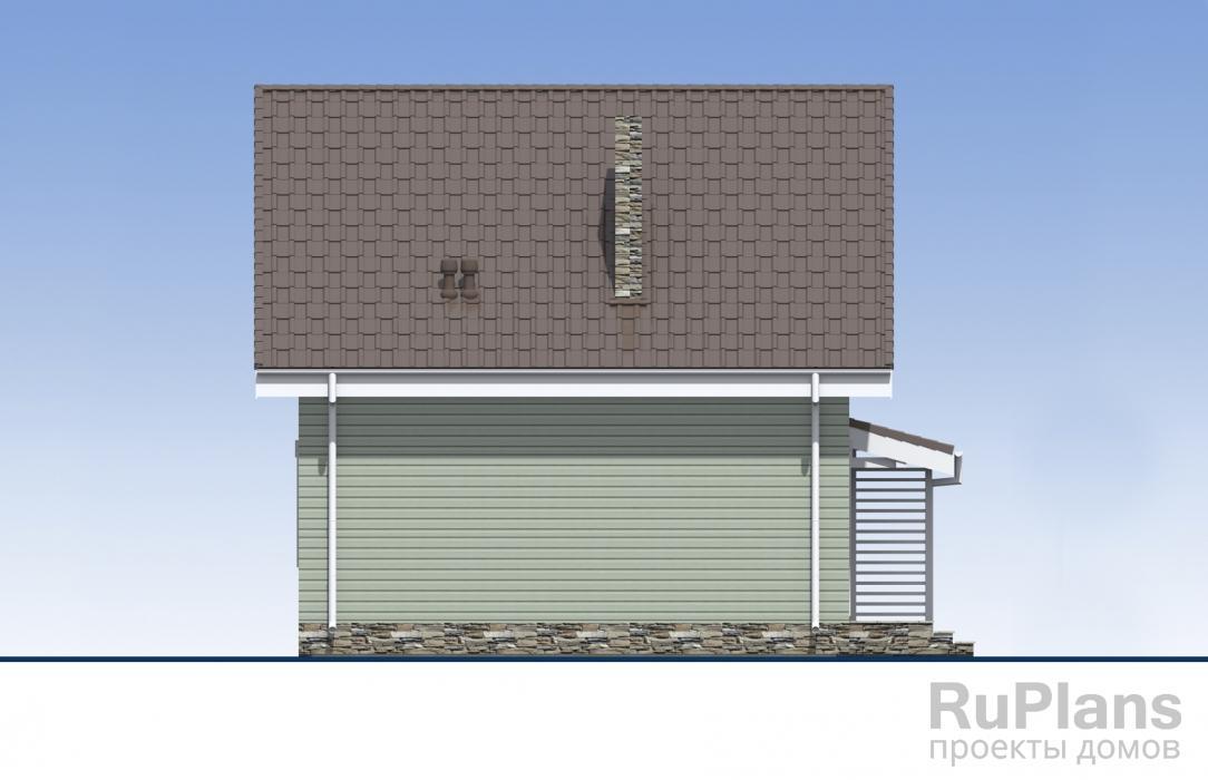 Одноэтажный жилой дом с мансардой ЛСП5474