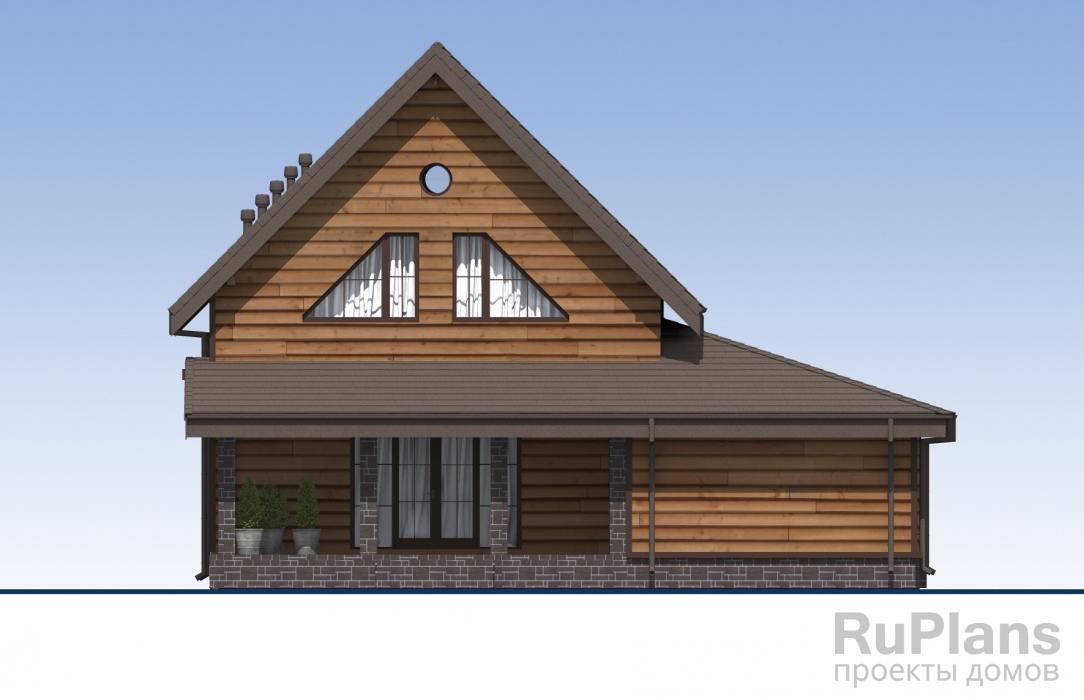 Проект индивидуального одноэтажного жилого дома с мансардой и гаражом ЛСП5495