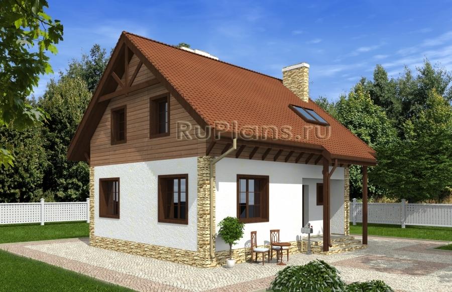 Проект одноэтажного дома с мансардой ЛСП4803