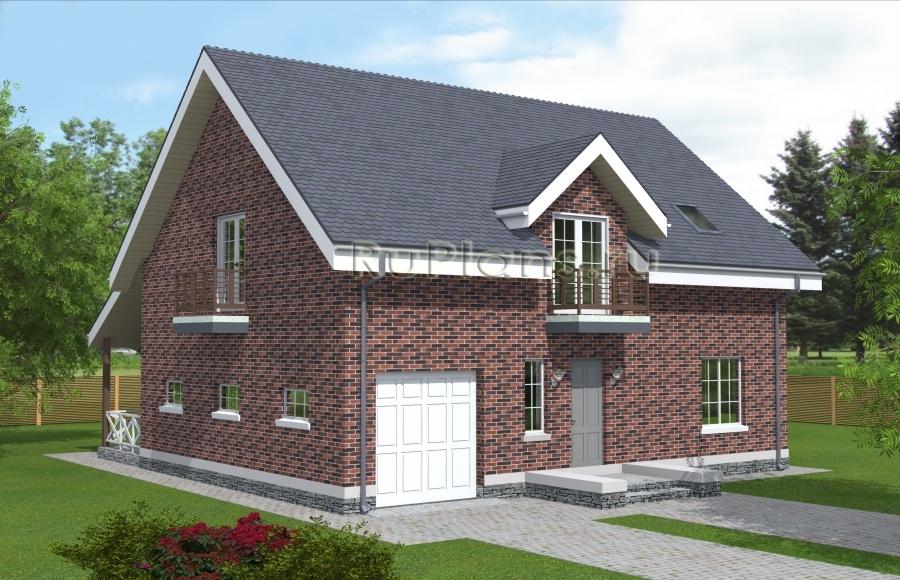 Проект одноэтажного дома с мансардной и подвалом ЛСП4897