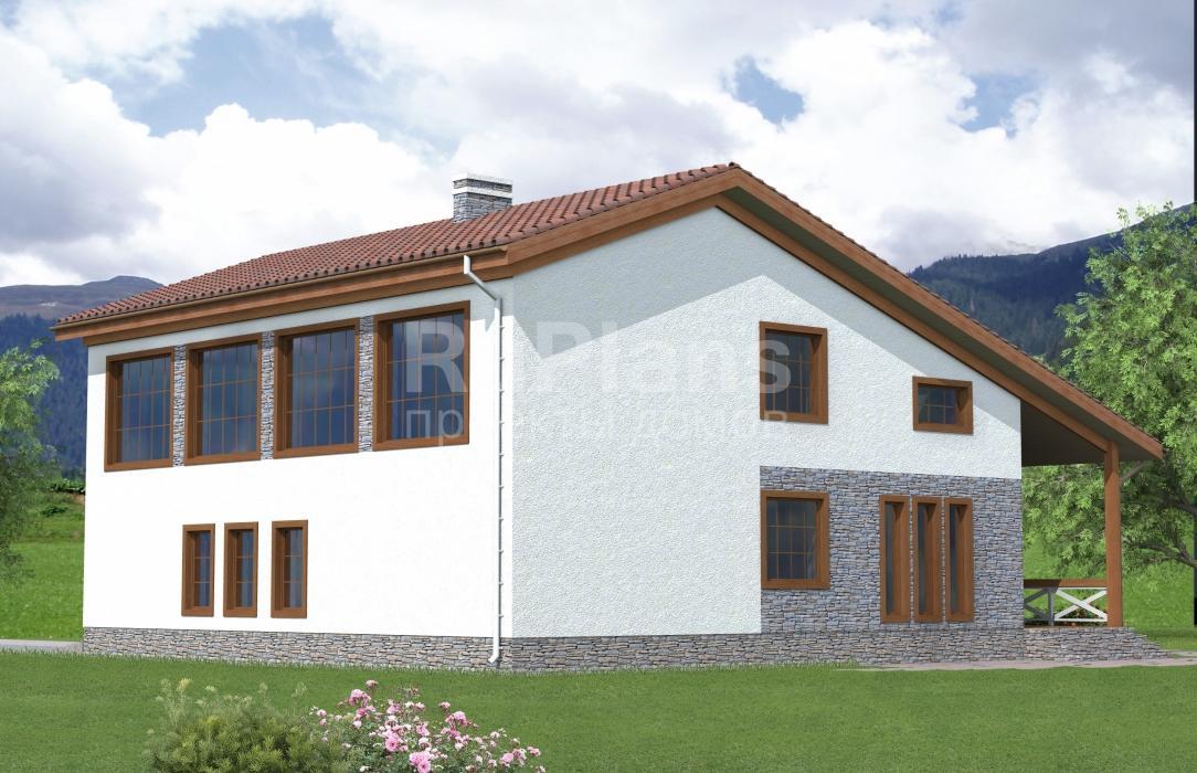 Проект одноэтажного дома с мансардой ЛСП4840