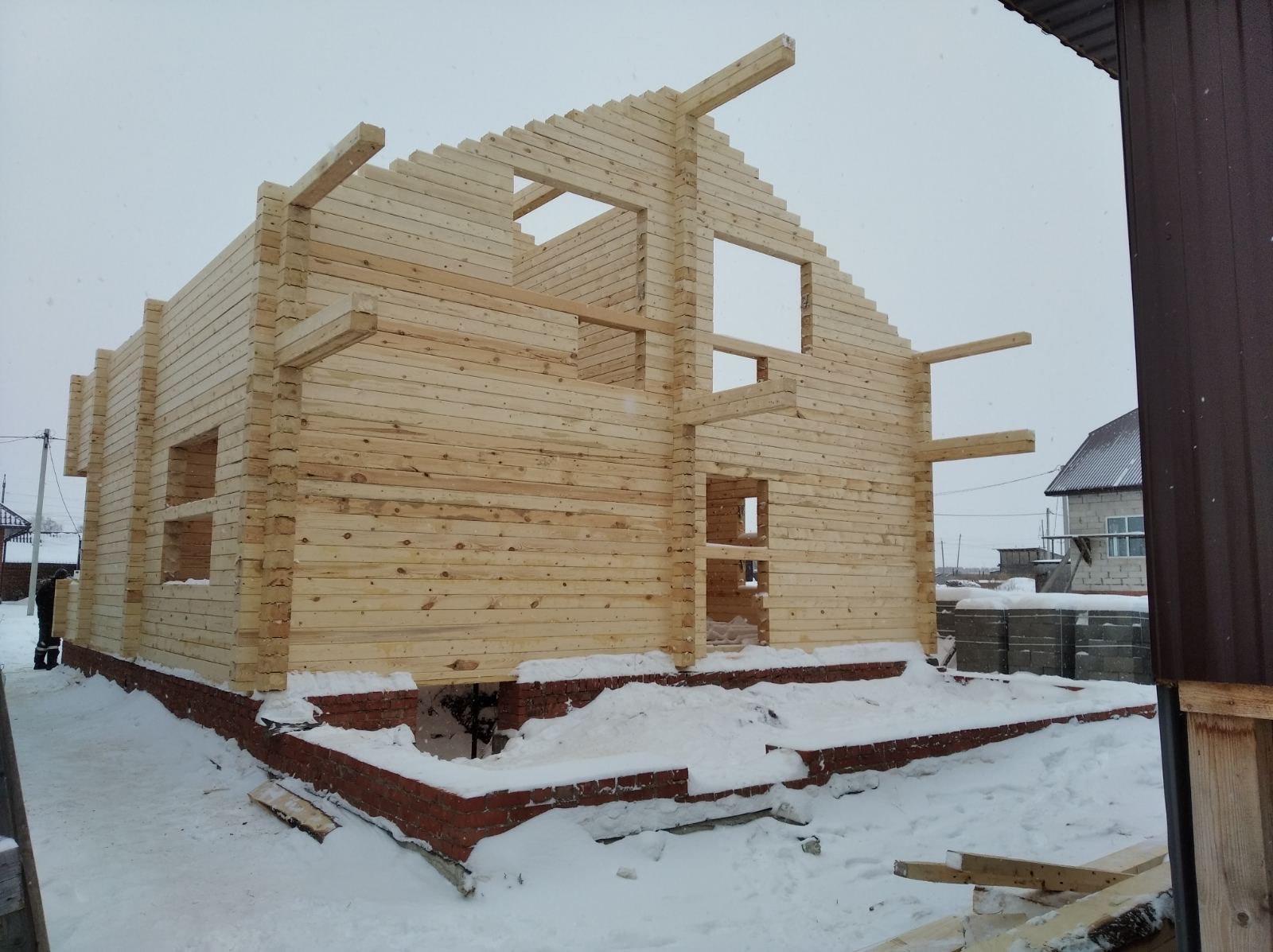 Дом в с. Алнаши из профилированного бруса камерной сушки 145*195 мм